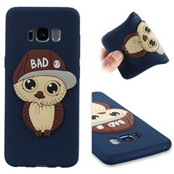 Bad Boy Owl Soft 3D Silicone Case for Samsung Galaxy S8 - Navy