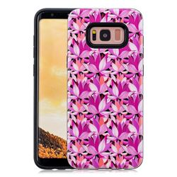 Lotus Flower Pattern 2 in 1 PC + TPU Glossy Embossed Back Cover for Samsung Galaxy S8