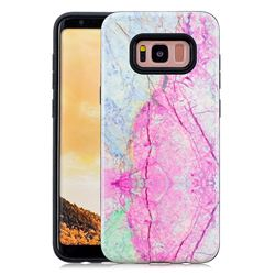 Pink Marble Pattern 2 in 1 PC + TPU Glossy Embossed Back Cover for Samsung Galaxy S8