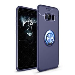 Auto Focus Invisible Ring Holder Soft Phone Case for Samsung Galaxy S8 - Blue