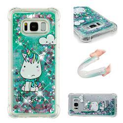 Tiny Unicorn Dynamic Liquid Glitter Sand Quicksand Star TPU Case for Samsung Galaxy S8