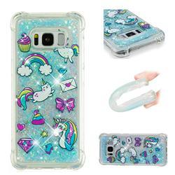 Fashion Unicorn Dynamic Liquid Glitter Sand Quicksand Star TPU Case for Samsung Galaxy S8