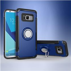 Armor Anti Drop Carbon PC + Silicon Invisible Ring Holder Phone Case for Samsung Galaxy S8 - Sapphire