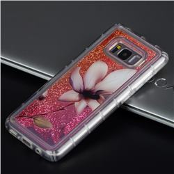 Lotus Glassy Glitter Quicksand Dynamic Liquid Soft Phone Case for Samsung Galaxy S8