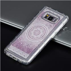 Mandala Glassy Glitter Quicksand Dynamic Liquid Soft Phone Case for Samsung Galaxy S8