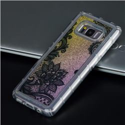 Diagonal Lace Glassy Glitter Quicksand Dynamic Liquid Soft Phone Case for Samsung Galaxy S8