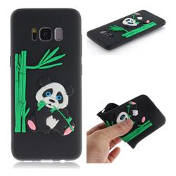Panda Eating Bamboo Soft 3D Silicone Case for Samsung Galaxy S8 - Black