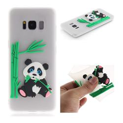 Panda Eating Bamboo Soft 3D Silicone Case for Samsung Galaxy S8 - Translucent