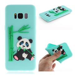 Panda Eating Bamboo Soft 3D Silicone Case for Samsung Galaxy S8 - Green