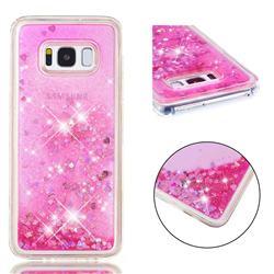 Dynamic Liquid Glitter Quicksand Sequins TPU Phone Case for Samsung Galaxy S8 - Rose