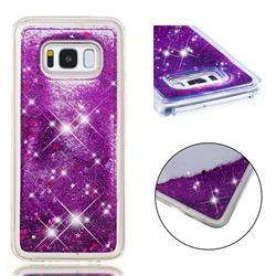 Dynamic Liquid Glitter Quicksand Sequins TPU Phone Case for Samsung Galaxy S8 - Purple