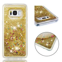 Dynamic Liquid Glitter Quicksand Sequins TPU Phone Case for Samsung Galaxy S8 - Golden