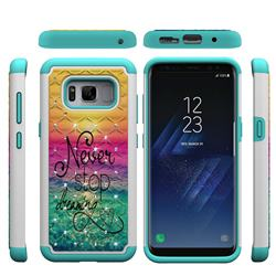 Colorful Dream Catcher Studded Rhinestone Bling Diamond Shock Absorbing Hybrid Defender Rugged Phone Case Cover for Samsung Galaxy S8