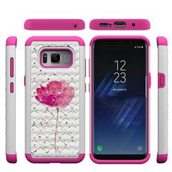 Watercolor Studded Rhinestone Bling Diamond Shock Absorbing Hybrid Defender Rugged Phone Case Cover for Samsung Galaxy S8