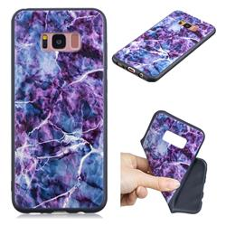 Marble 3D Embossed Relief Black TPU Cell Phone Back Cover for Samsung Galaxy S8