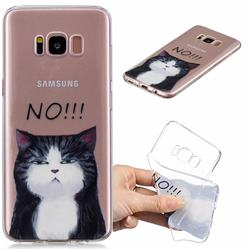 Cat Say No Clear Varnish Soft Phone Back Cover for Samsung Galaxy S8