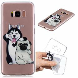 Selfie Dog Clear Varnish Soft Phone Back Cover for Samsung Galaxy S8