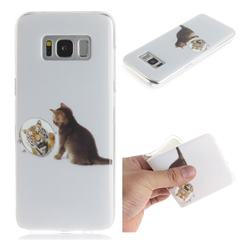 Cat and Tiger IMD Soft TPU Cell Phone Back Cover for Samsung Galaxy S8