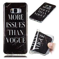 Stylish Black Soft TPU Marble Pattern Phone Case for Samsung Galaxy S8