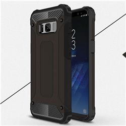 King Kong Armor Premium Shockproof Dual Layer Rugged Hard Cover for Samsung Galaxy S8 - Black Gold