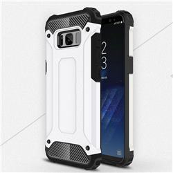 King Kong Armor Premium Shockproof Dual Layer Rugged Hard Cover for Samsung Galaxy S8 - White