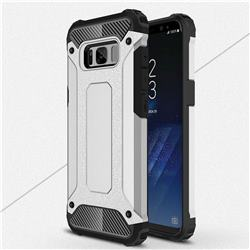King Kong Armor Premium Shockproof Dual Layer Rugged Hard Cover for Samsung Galaxy S8 - Technology Silver