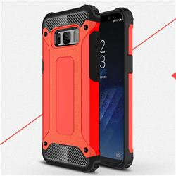 King Kong Armor Premium Shockproof Dual Layer Rugged Hard Cover for Samsung Galaxy S8 - Big Red