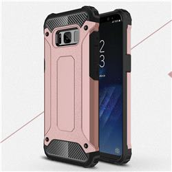 King Kong Armor Premium Shockproof Dual Layer Rugged Hard Cover for Samsung Galaxy S8 - Rose Gold