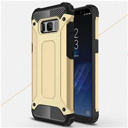 King Kong Armor Premium Shockproof Dual Layer Rugged Hard Cover for Samsung Galaxy S8 - Champagne Gold