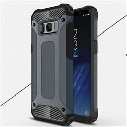 King Kong Armor Premium Shockproof Dual Layer Rugged Hard Cover for Samsung Galaxy S8 - Navy