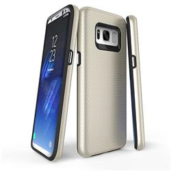 Triangle Texture Shockproof Hybrid Rugged Armor Defender Phone Case for Samsung Galaxy S8 - Golden