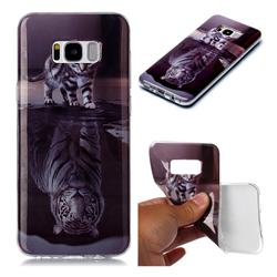 Cat and Tiger Soft TPU Cell Phone Back Cover for Samsung Galaxy S8