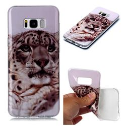 White Leopard Soft TPU Cell Phone Back Cover for Samsung Galaxy S8