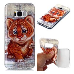 Cute Tiger Baby Soft TPU Cell Phone Back Cover for Samsung Galaxy S8