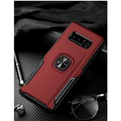 Knight Armor Anti Drop PC + Silicone Invisible Ring Holder Phone Cover for Samsung Galaxy S8 - Red
