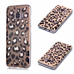 Leopard Galvanized Rose Gold Marble Phone Back Cover for Samsung Galaxy S8