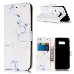 Soft White Marble PU Leather Wallet Case for Samsung Galaxy S8