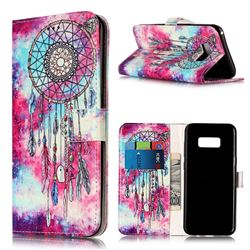 Butterfly Chimes PU Leather Wallet Case for Samsung Galaxy S8