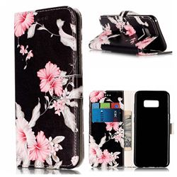 Azalea Flower PU Leather Wallet Case for Samsung Galaxy S8