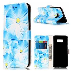 Orchid Flower PU Leather Wallet Case for Samsung Galaxy S8