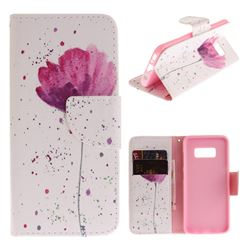 Purple Orchid PU Leather Wallet Case for Samsung Galaxy S8