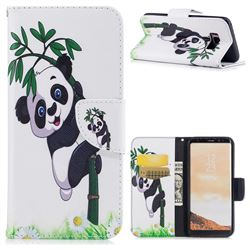 Bamboo Panda Leather Wallet Case for Samsung Galaxy S8