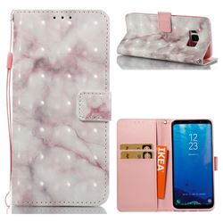 Beige Marble 3D Painted Leather Wallet Case for Samsung Galaxy S8
