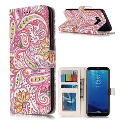 Pepper Flowers 3D Relief Oil PU Leather Wallet Case for Samsung Galaxy S8