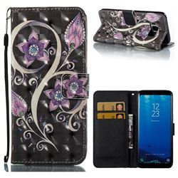 Peacock Flower 3D Painted Leather Wallet Case for Samsung Galaxy S8
