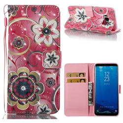 Tulip Flower 3D Painted Leather Wallet Case for Samsung Galaxy S8