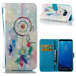 Feather Wind Chimes 3D Painted Leather Wallet Case for Samsung Galaxy S8