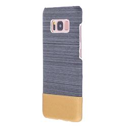 Canvas Cloth Coated Plastic Back Cover for Samsung Galaxy S8 - Dark Grey