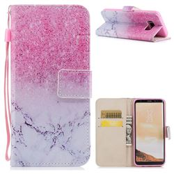 Marble Powder PU Leather Wallet Case for Samsung Galaxy S8