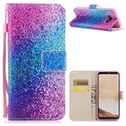 Rainbow Sand PU Leather Wallet Case for Samsung Galaxy S8